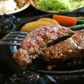 甘味があって柔らかなお肉を贅沢に頂く『厚切りサーロイン』