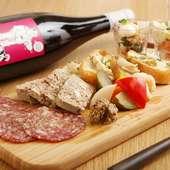 ワインとのマリアージュを満喫『masa風前菜盛合わせプレート』
