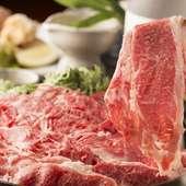 柔らかく旨みのあるお肉をご提供『黒毛和牛すき焼き』
