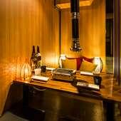 大小さまざまな半個室や個室、落ち着いた和の空間で飲み会!
