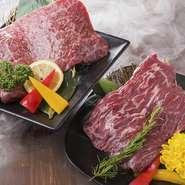 (上カルビ/上ロース/特選ハラミ)  和牛の本来の旨味、香り、食感を感じれる一皿。それぞれの部位の美味しさを堪能出来ます。食べ比べてお好みの部位を探してみてください。