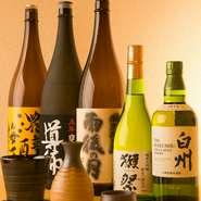 料理人おすすめのアルコールドリンクがそろっており、和食に合う日本酒や、地元広島のお酒もたしなむことができます。広島に出張や観光で来られた方が来店し、地酒を堪能する姿も見られます。
