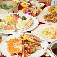 各種コース料理には、1550円で飲み放題が付けられます。宴会、女子会、各種パーティーなどの際は、飲み放題で、お手頃にドリンクを楽しめます。