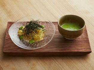 斬新なイタリアンのつけ麺『冷製パスタと枝豆のソース』