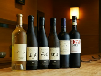 コースの最初から最後まで日本酒でもワインでも合う料理の数々