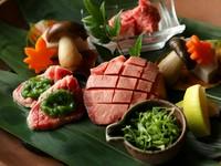さまざまな種類の肉を味わえる『塩焼き 壱の皿 宝楽盛り 厳選和牛盛り』