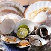 極上の貝を存分に味わう『浜焼き(大、各2個)』