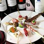 その日一番の食材をつかい、旨みを存分に引き出した料理でお客様をおもてなしするコース