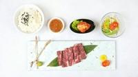 黒毛和牛「上ハラミ」・特製白菜キムチ・サラダ・ライス