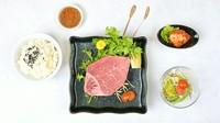 A5黒毛和牛「シャトーブリアンステーキ100g」・特製白菜キムチ・サラダ・ライス