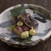 季節野菜を魚と共に『秋刀魚の肝醤油焼と季節野菜の盛り合わせ』