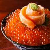 北海道産いくらを贅沢に盛り込んだ『元祖わがまま丼』