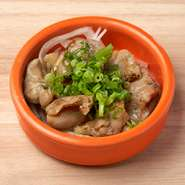 ぷりぷりの食感がクセになる!炭火の風味が香ばしい鶏ハラミのおつまみ。