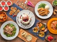 チーズフォンデュはもちろん、ジュ~シ~なグリル肉やアヒージョなど女性に人気のメニューを集めました!