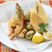 本日の魚介と野菜のフリットミスト