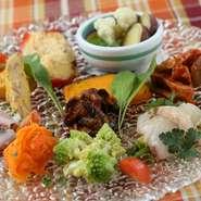 岡山の魅力を一皿に『ドゥオモ風前菜の盛り合わせ』
