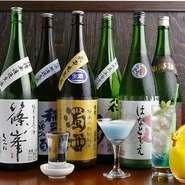 地元奈良の地酒を中心に、焼酎やワイン・オリジナルカクテルまでご用意。奈良県は日本酒発祥の地と言われ地酒の種類も豊富です。本場のお酒をご賞味ください。