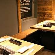 利用シーンに合わせた4名様前後のテーブル席を多数ご用意しております。 お友達や会社のお仲間との歓送迎会などの様々なシーンにご利用下さい。