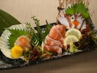 北海道ならではの旬魚を味わえる『刺身3種盛り』