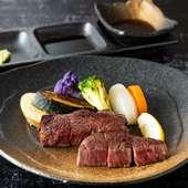 地元・静岡県東部のあしたか牛、丹那はこ豚を使った料理