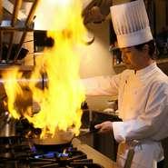 経験豊富なシェフがつくるイタリア料理は、手法や調味料にこだわって日本人の好みの味に仕上がっています。