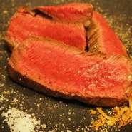 国産の赤身牛肉の塊200g 赤身でジューシー 肉食べたいときは是非!!