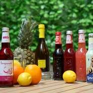 イタリア産ビオ(有機)ジュースも種類多くご用意しています。