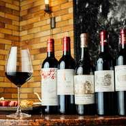 神戸ビーフに合う上質なワインをソムリエが厳選仕入れ。フランス産を中心に、世界各国のワインが常時40種類ほど用意されています。シャンパーニュが比較的リーズナブルな価格帯なのも嬉しいところ。
