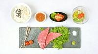 A5黒毛和牛『希少部位一品』・特製白菜キムチ・サラダ・ライス