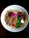夏季限定チャーマヨビビン麺66定番人気の「まかないBullめし」を麺にしちゃいました!ガッツリ太麺で暑さを乗り切れ!※とてもジャンキーなためご注意下さい!