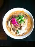 スタミナ焼肉炒め 760円→onthe麺→『カルビめん』1360円 ニンニクパンチ牛カルビ炒麺!