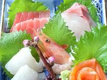 旬の新鮮な魚介とともに、茨城の地酒もあり