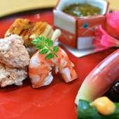 全国の旬の素材を用い、美味しさを最大限に引き出した料理の品々