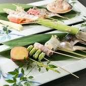 新鮮な食材を使った串揚げが自慢