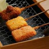 天婦羅と串揚げと一品料理が全23品!『おまかせコース』
