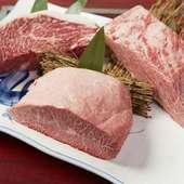 人気の部位のお肉や稀少部位のお肉も満喫