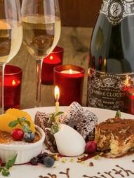 お誕生日や記念日を彩るイタリアンのコースにデザートが付いた特別プラン。一年に一度の大切な日に。