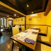 緑を眺めながら食事ができるレストラン