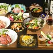 新鮮食材を活かした和洋創作料理の数々は、美味しいものが大好きな女子の心とお腹を満たします。お酒にもピッタリなメニューが並び、オシャレ和モダンな店内で、美味しい料理を食べながら女子会トークも弾みそう。