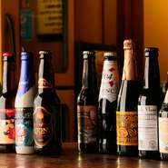 今、若者に人気の「ホワイトビール」「IPA」を初め、ヨーロッパ諸国のエールビールをご用意。豊富に揃えたビールを是非味わってください!