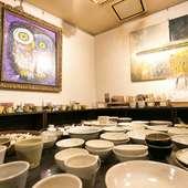 販売もされている形も風合いもさまざまな陶器