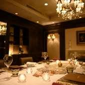 記念日やプロポーズ、特別な日のお食事にご利用ください