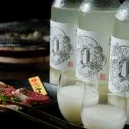 焼肉にあわせて辛口に作ったマッコリ。新潟の日本酒を醸造している酒蔵の杜氏が作っています。福岡県で扱っているのは【炭火焼肉アリラン峠】だけ。無添加天然発酵です。※現在発注困難のため出来次第復活致します。