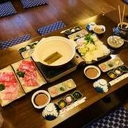 九州地方の和牛王様と呼ばれる九州王 すき焼きorしゃぶしゃぶ竹コース