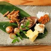 その時期の新鮮な食材を使用した「おばんざい」は日本酒と一緒に