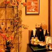 旬の食材を活かしたメニューを堪能できる日本料理店。