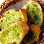 さつまいもを使用したマッシュドポテトにゴルゴンゾーラチーズをのせました。