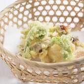 ホタルイカに山菜と、春の息吹を感じる『揚げ物』