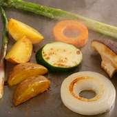 選び抜かれた旬の野菜の甘み・旨みを堪能