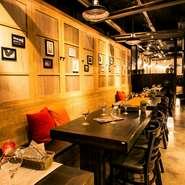 会社帰りから様々な宴会に使える隠れ家個室は最大50名までOK。宴会・飲み会にオススメの各種飲放付コースは3000円~。